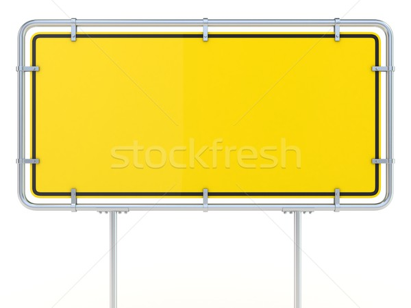 Blank framed traffic road sign standing. 3D Stock photo © djmilic