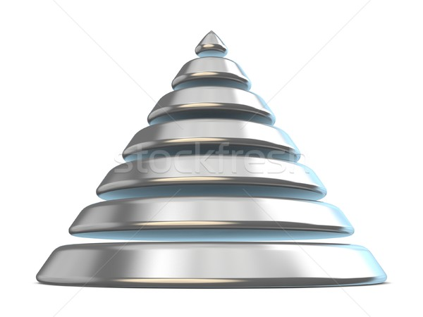Steel cone with seven levels. 3D Stock photo © djmilic