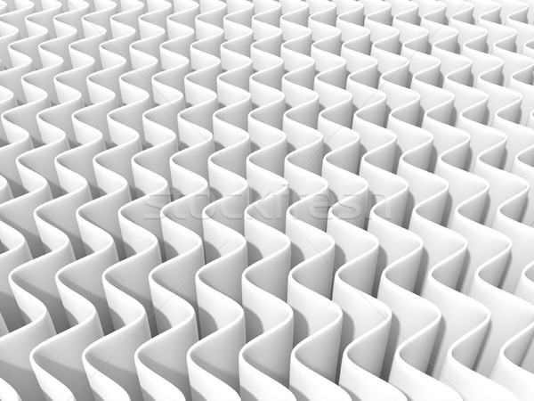 White abstract wave background. 3D Stock photo © djmilic