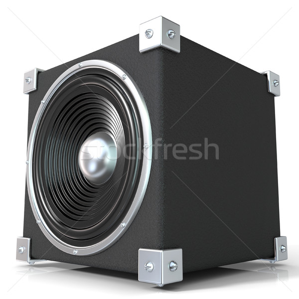 Nero audio speaker 3D rendering 3d illustrazione Foto d'archivio © djmilic