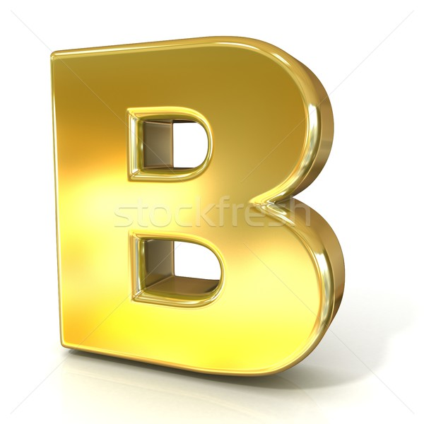 Gouden doopvont collectie brief 3D 3d render Stockfoto © djmilic