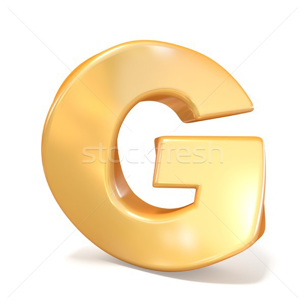 Stock photo: Orange twisted font uppercase letter G 3D