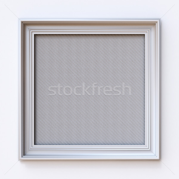 White canvas picture frame Rectangle 3D Stock photo © djmilic