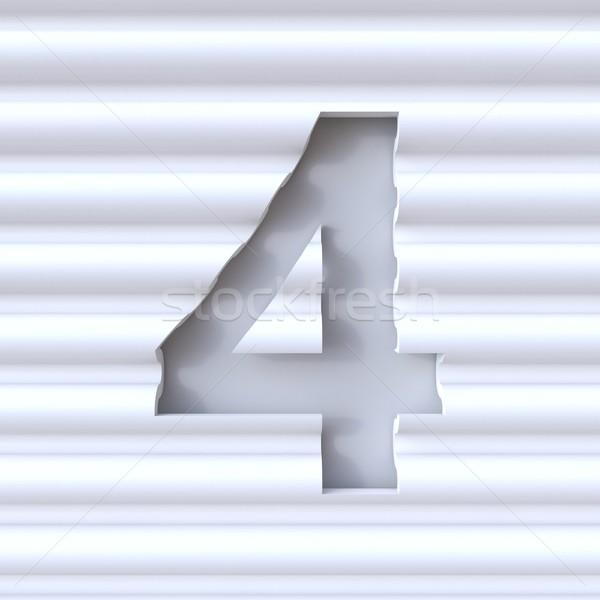 フォント 波 表面 番号 4 ストックフォト © djmilic