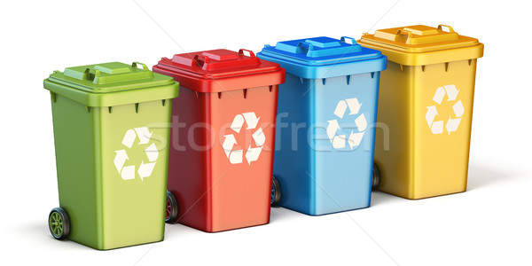 Containers for recycling waste sorting plastic, glass, metal, pa Stock photo © djmilic