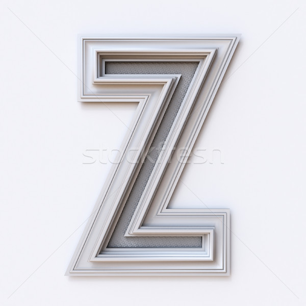 White picture frame font Letter Z 3D Stock photo © djmilic