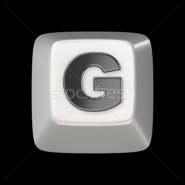 Computer keyboard key FONT. Letter G 3D Stock photo © djmilic