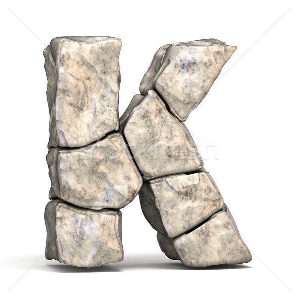 Stone font letter K 3D Stock photo © djmilic