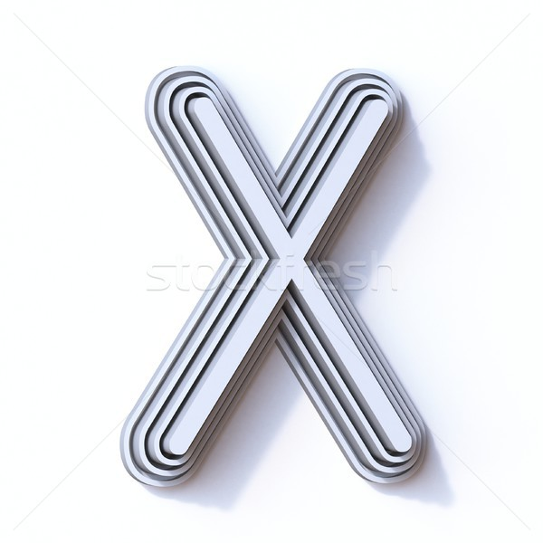 Three steps font letter X 3D Stock photo © djmilic