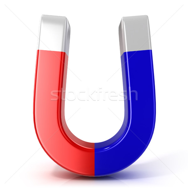 Red and blue horseshoe magnet Stock photo © djmilic