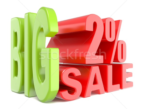 Big sale and percent 2% 3D words sign Stock photo © djmilic