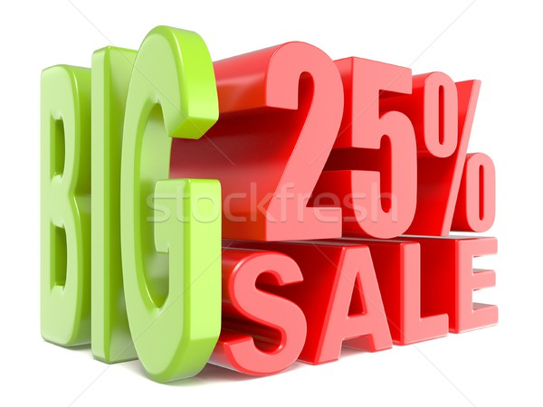 Big sale and percent 25% 3D words sign Stock photo © djmilic