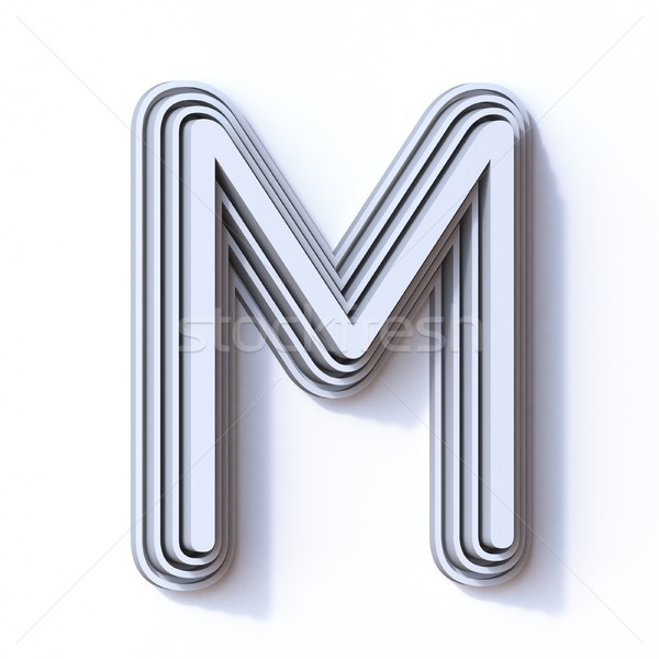 Three steps font letter M 3D Stock photo © djmilic