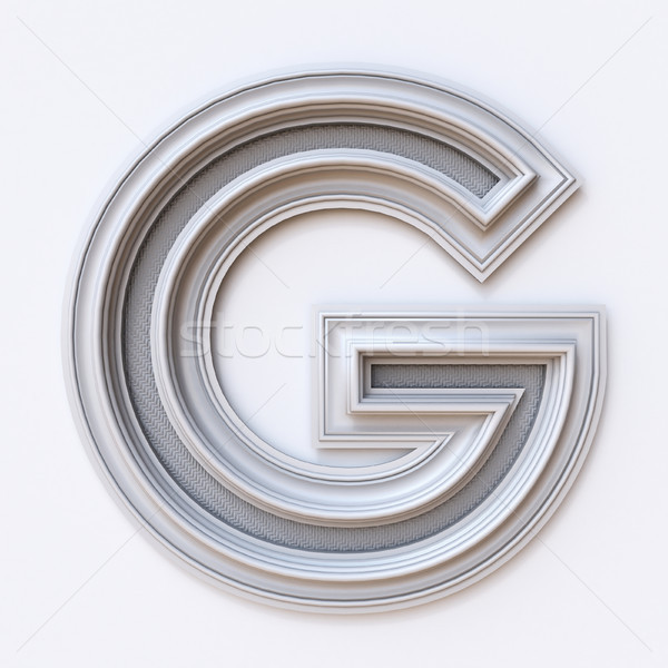 White picture frame font Letter G 3D Stock photo © djmilic