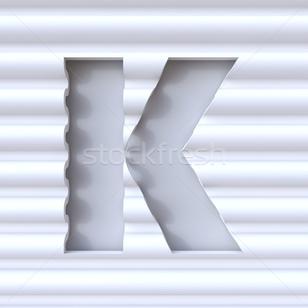 Cut out font in wave surface LETTER K 3D Stock photo © djmilic