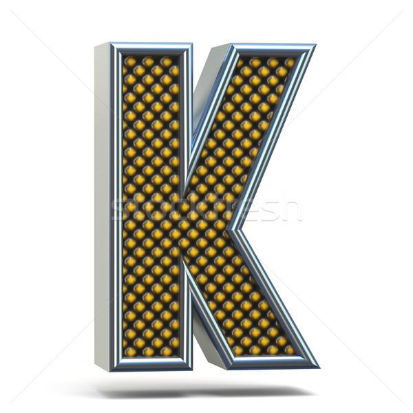Krom Metal turuncu noktalı mektup Stok fotoğraf © djmilic