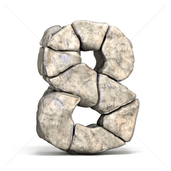 Stone font number 8 EIGHT 3D Stock photo © djmilic