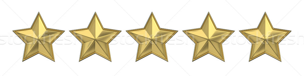 Voting concept. Rating five golden star. 3D Stock photo © djmilic