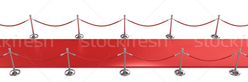 красный ковер вид сбоку 3d визуализации иллюстрация фильма театра Сток-фото © djmilic