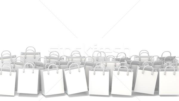 White blank shopping bags. 3D Stock photo © djmilic