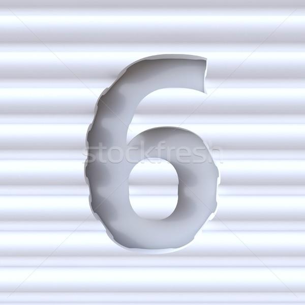 Kivágás betűtípus hullám felület szám hat Stock fotó © djmilic