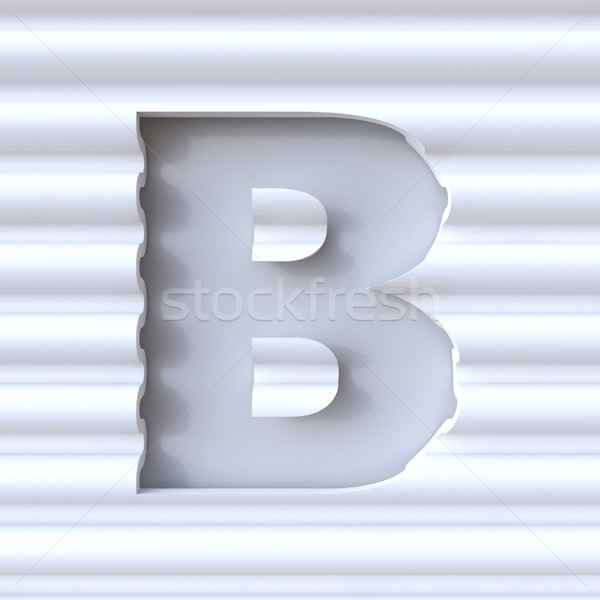 Cut out font in wave surface LETTER B 3D Stock photo © djmilic