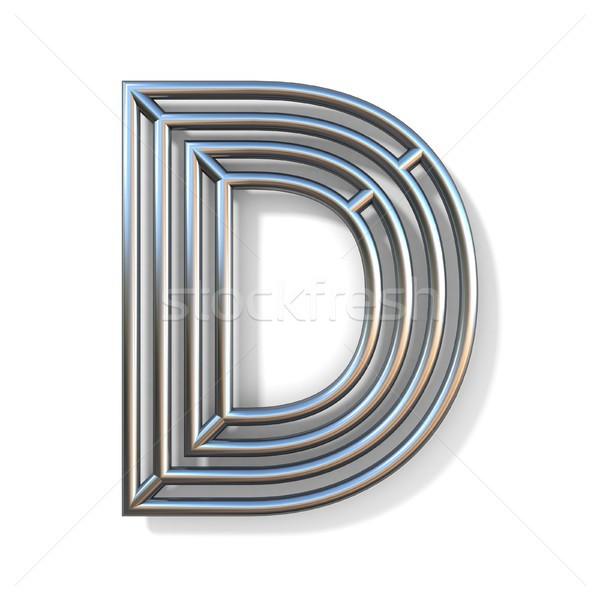 Drót skicc betűtípus d betű 3D renderelt kép Stock fotó © djmilic