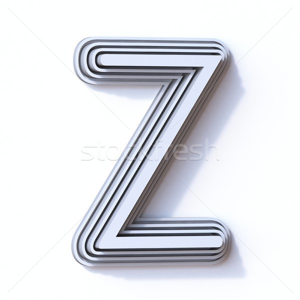 Three steps font letter Z 3D Stock photo © djmilic