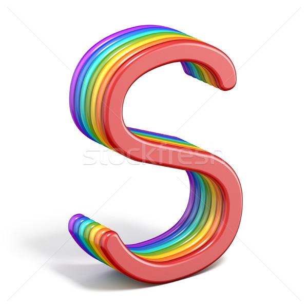 радуга шрифт письме 3D иллюстрация Сток-фото © djmilic