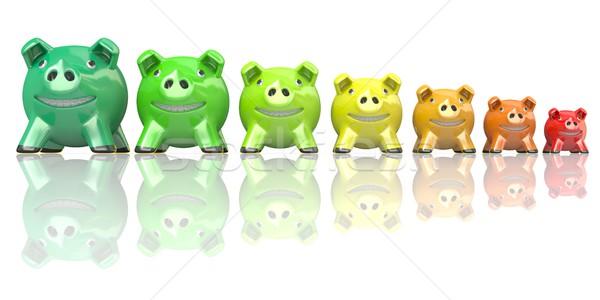 Besparing energie verbruik banken 3D Stockfoto © djmilic