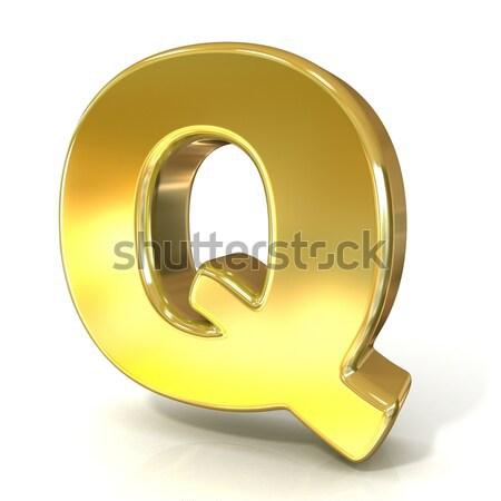 Golden font collection letter - Q. 3D Stock photo © djmilic