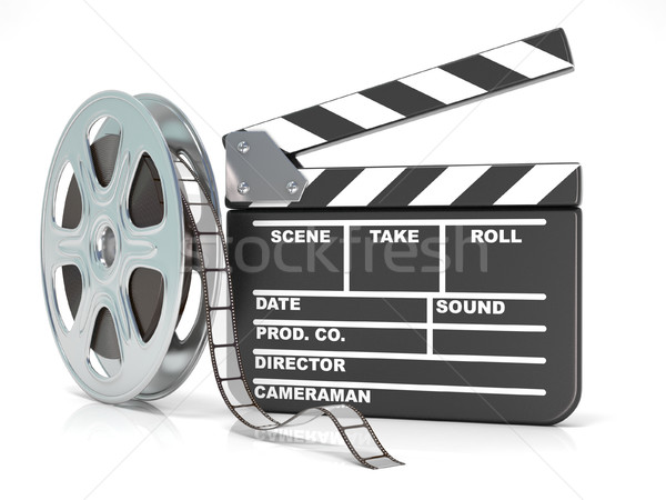 Film reel film boord video icon 3D Stockfoto © djmilic