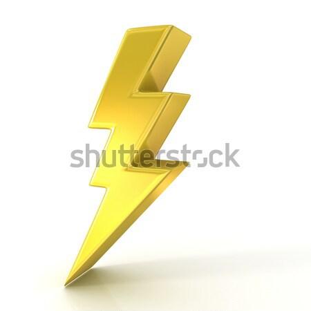 雷 シンボル 3D にログイン 孤立した ストックフォト © djmilic