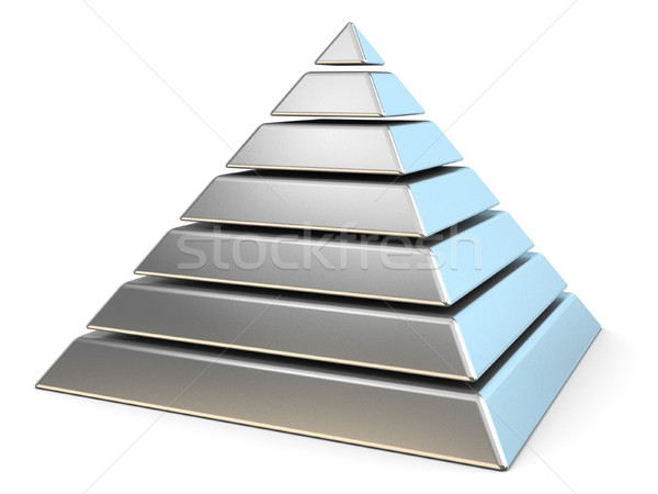 Steel pyramid with seven levels. 3D Stock photo © djmilic