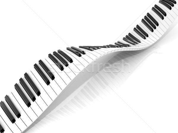 Wavy abstract piano keyboard Stock photo © djmilic
