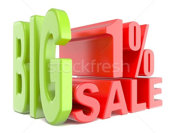 Big sale and percent 1% 3D words sign Stock photo © djmilic