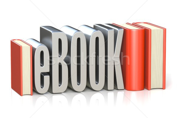 eBOOK red book 3D Stock photo © djmilic