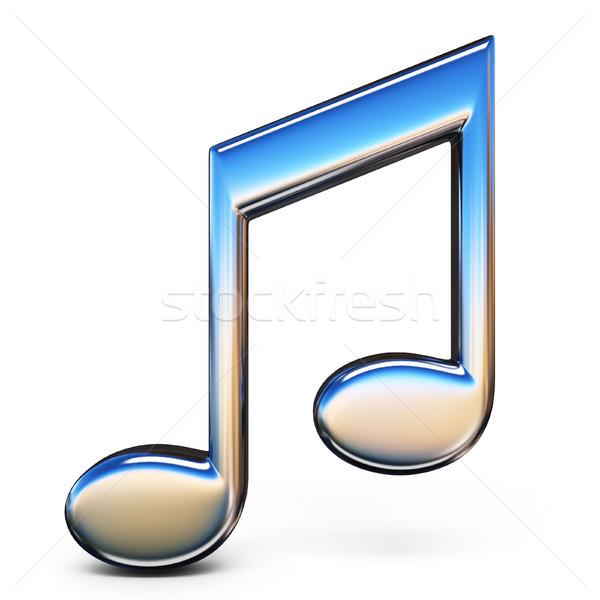 音楽 にログイン ダブル 8 ノート 3D ストックフォト © djmilic
