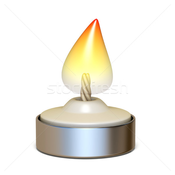 Burning candlelight 3D render illustration Stock photo © djmilic