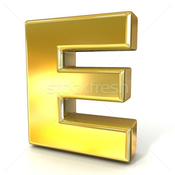 Arany betűtípus gyűjtemény levél 3D 3d render Stock fotó © djmilic
