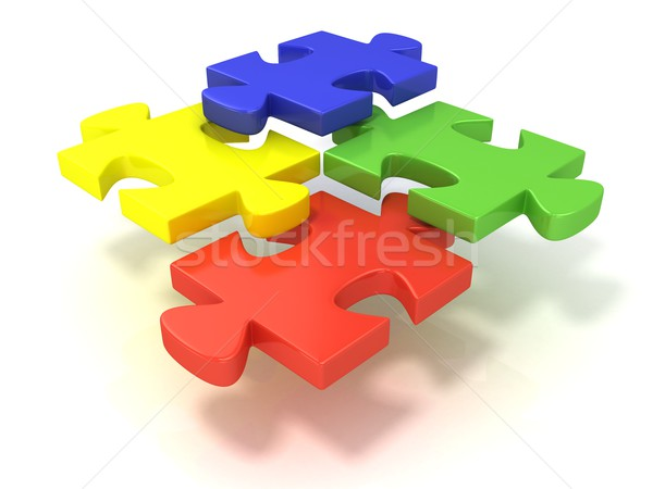 четыре красочный частей набор отдельно Сток-фото © djmilic