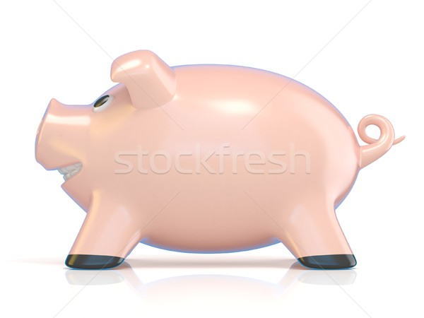 Piggy bank concept, Ceramic pig. 3D Stock photo © djmilic