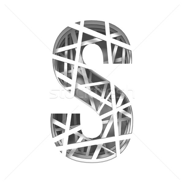 Paper cut out font letter S 3D Stock photo © djmilic