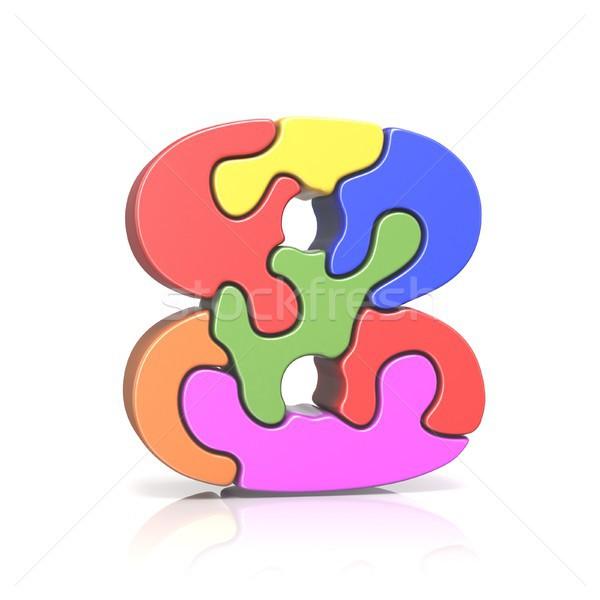 Puzzle nombre huit 3D rendu 3d Photo stock © djmilic