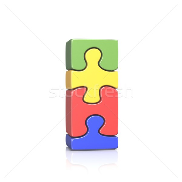 Puzzle jigsaw letter I 3D Stock photo © djmilic
