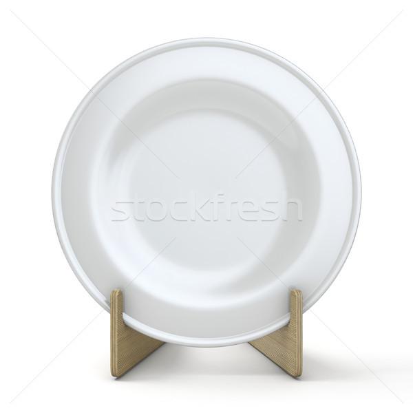 Plate mock up holder 3D rendering illustration Stock photo © djmilic