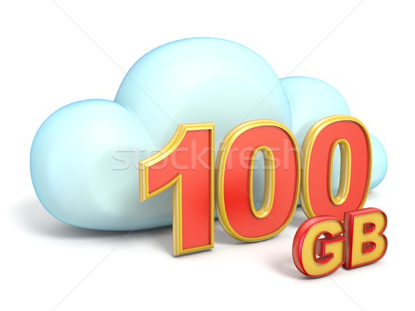 Cloud icon 100 GB storage capacity 3D Stock photo © djmilic