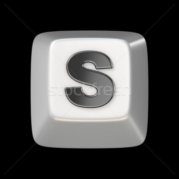Computer keyboard key FONT. LetterS  3D Stock photo © djmilic