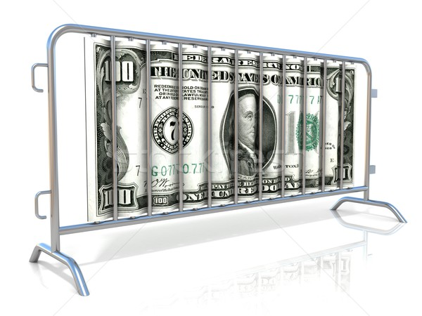 Aço dólar isolado branco vista lateral construção Foto stock © djmilic