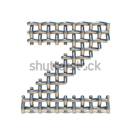 Fém betűtípus z betű 3D 3d render illusztráció Stock fotó © djmilic